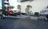 Picture of Tandem Axle Boat Trailer on Concrete