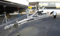 Picture of Boat Trailer on Concrete
